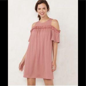 acad056378c35f LC Lauren Conrad Dresses - LC Lauren Conrad Ruffle Cold-Shoulder Dress